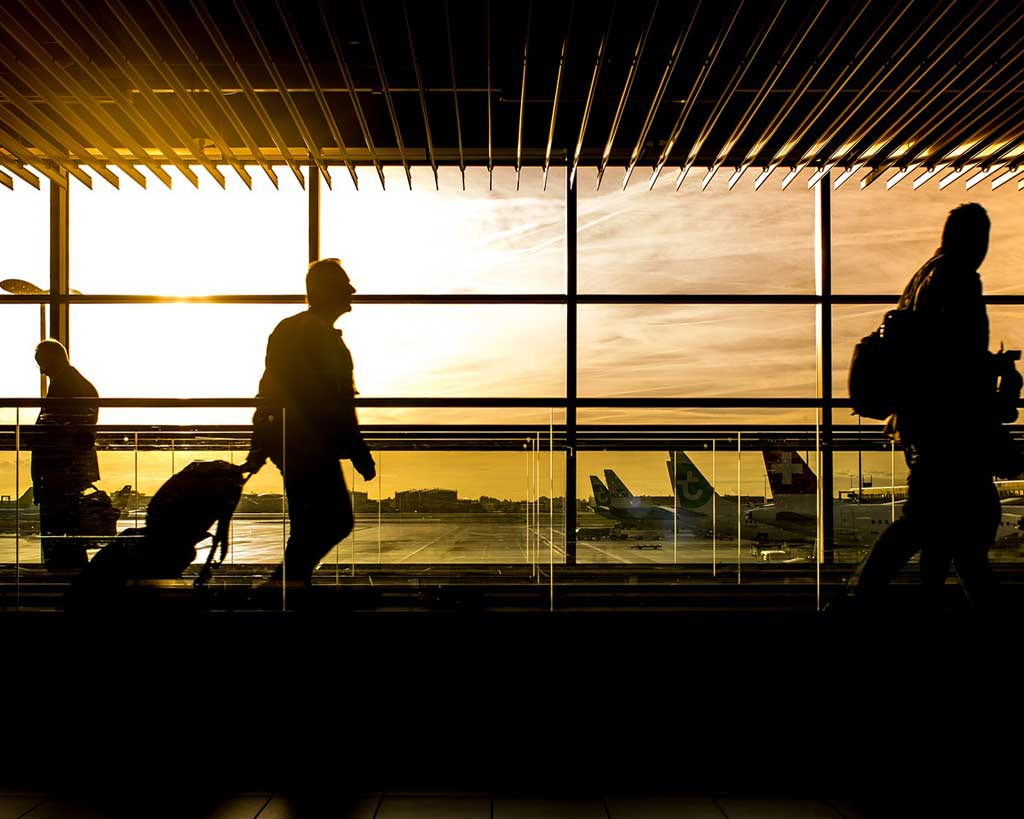 Airport travellers